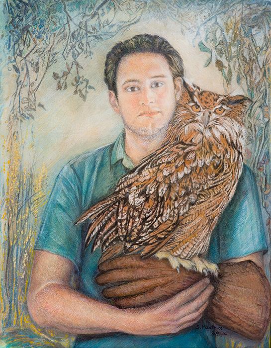 Boy With Owl Glove