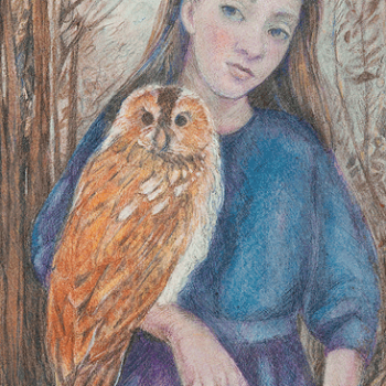 Girl with Owl (No 2).