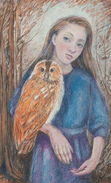 Girl With Owl Right